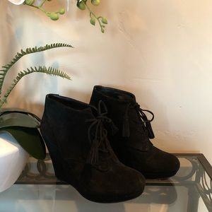 Jessica Simpson Lace-Up Wedge Booties